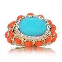 Cabochon Ring Brooch
